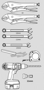 Narzędzia potrzebne do montażu sprężyny: